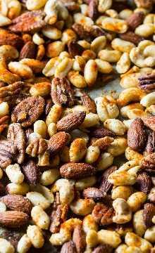 Cajun Nuts - Faça um ótimo lanche para festas ou lanche de férias. Aromatizado com muitas especiarias, um pouco de açúcar e gordura de bacon!