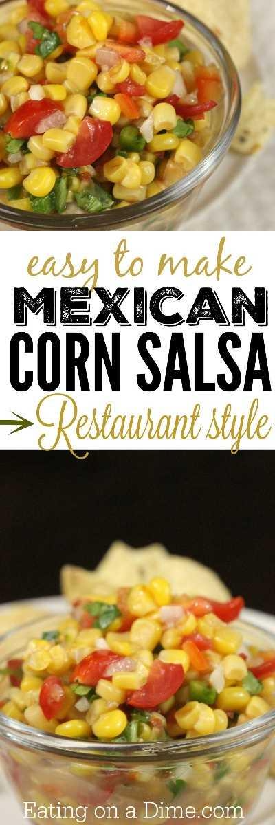 fácil de fazer receita de molho de milho mexicano