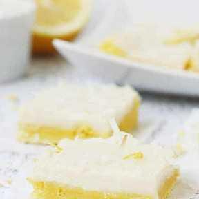 Barras de limón fáciles con mezcla para pasteles