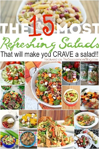 Even if you are not a fan of salads, you WILL LOVE these! 15 of the most incredibly delicious and EASY salad recipes!