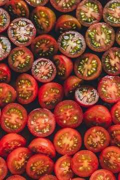 cómo cortar tomates cherry para recetas de tomates cherry