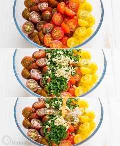 Cómo hacer una receta paso a paso de tomates cherry marinados adobados para tomates marinados italianos
