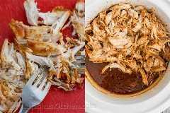 Frango Crockpot para churrasco - Melhor frango com fogão lento! Desintegrado, macio, suculento e delicioso! O   natashaskitchen.com