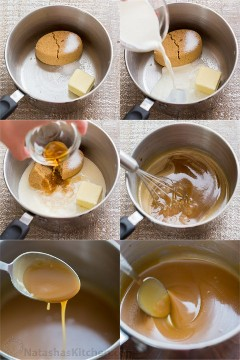 Homemade caramel sauce is so simple, you'll never want store-bought caramel sauce again! Easy 1-step recipe, 5-ingredient salted caramel sauce. The | natashaskitchen.com