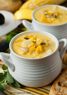 Vegetarian Corn Hunt and Fall Butter Soup: A Family Party