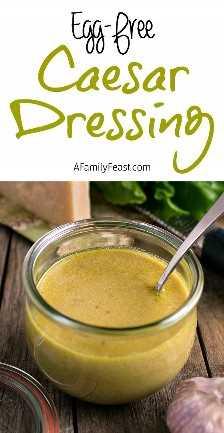 Caesar Dressing Eggless - Um molho Caesar Eggless cremoso e saboroso. Faz uma marinada fantástica também!