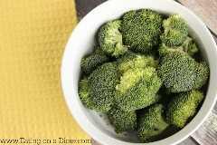 como el vapor de brócoli en el microondas