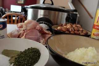 cogumelo de frango fogão lento