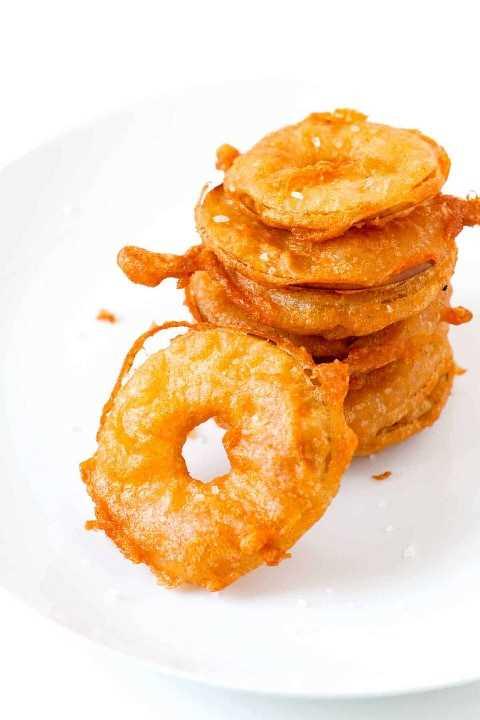 Como fazer anéis de maçã frita