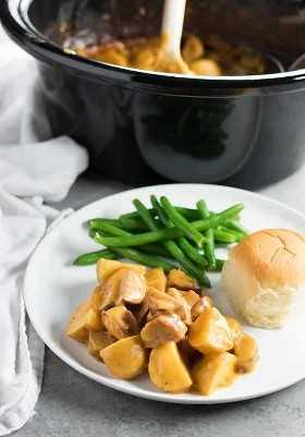 Kielbasa e Potato Crockpot