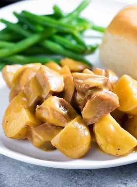 Salsicha e Batatas Crockpot