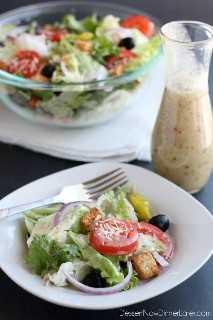 ¡Este aderezo para ensaladas Copycat Olive Garden está lo más cerca posible del verdadero producto, sin el jarabe de maíz con alto contenido de fructosa!