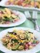 Ensalada de pasta de verduras asadas de DessertNowDinnerLater.com