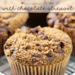 Muffins de Chocolate con Streusel de Chocolate