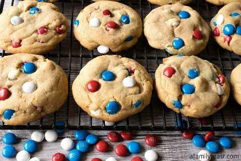 receta suave de galletas M&M