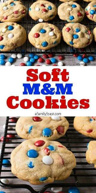 Cookies suaves de M&M