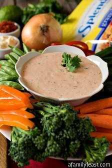Molho de legumes tailandês - Um molho delicioso para servir ao lado de legumes frescos, ou até batata doce assada! #SplendaSweeties #SweetSwaps #ad