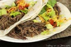 Tacos de ternera con olla de barro
