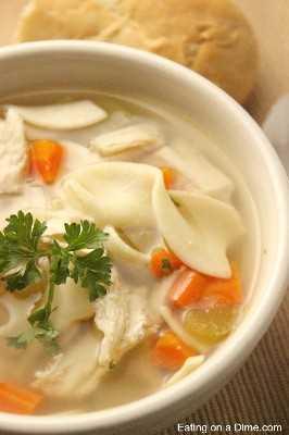 receta de sopa de fideos con pollo y pan panera