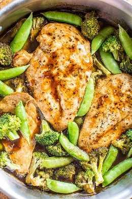 Pollo y verduras balsámicas de una sartén: ¡un glaseado balsámico dulce y picante cubre el pollo jugoso y las verduras crujientes y tiernas! ¡Saludable, fácil, listo en 15 minutos y perfecto para las noches ocupadas! ¡Es un guardián!