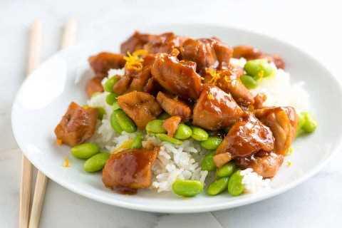 Receta de pollo con miel y jengibre teriyaki