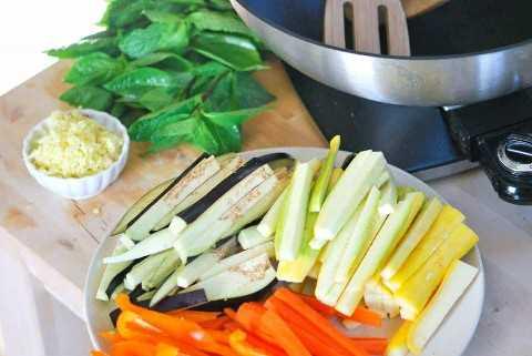 Verduras listas para cocinar