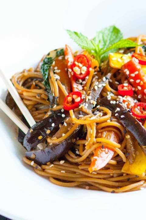 Receta de salteado de vegetales de soja y jengibre