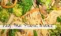 Receta fácil de fideos de maní tailandeses