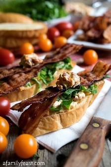 Crostini BLT with Boursin Cheese - A Family Party