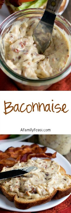Baconnaise - Add a fantastic flavor to any sandwich with this bacon-flavored mayonnaise!
