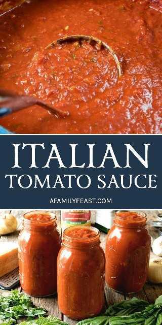 Una auténtica y deliciosa salsa de tomate italiana que se ha transmitido de generación en generación. ¡Tan bueno, seguramente se convertirá en la receta de salsa de su familia!