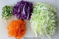 ingredientes da salada de repolho ralado