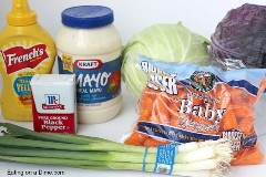 ingredientes da salada de repolho