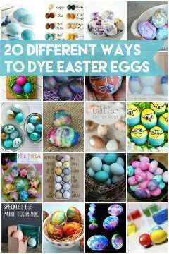 20 maneras diferentes de teñir los huevos de Pascua: desde Kool-Aid hasta crema de afeitar y todo lo demás. ¡Mis favoritos son esos lindos Minions!