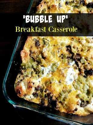 Caçarola de café da manhã Bubble Up | Receitas latinas!
