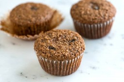 Receita de muffin de farelo