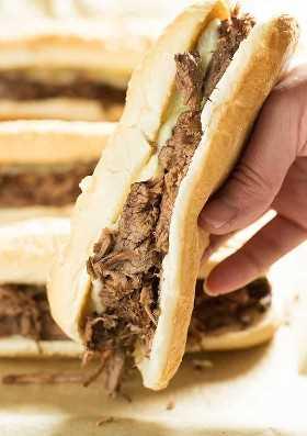 francês instnat pote ou crockpot molho sanduíche