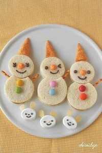 Mais de 50 almoços artísticos para crianças - Oyatsu Sand Snowman