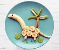 50+ Almoços Artísticos para Crianças: Manteiga de Amendoim Dino