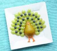 Mais de 50 almoços para crianças Food Art - Fruit Turkey