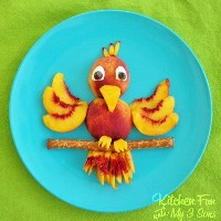 Mais de 50 almoços de comida para crianças: Cute Bird Snack