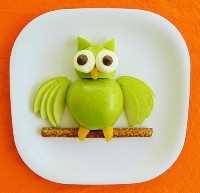 Mais de 50 almoços de comida infantil: lanche de coruja e maçã