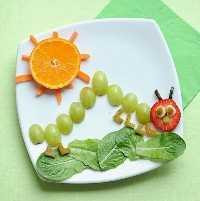 Mais de 50 almoços para crianças - Grape Caterpillar