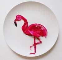 Mais de 50 almoços artísticos para crianças - Flamingo Dragon Fruit