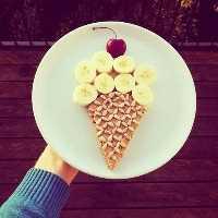 Mais de 50 almoços artísticos para crianças: Sundae de sorvete