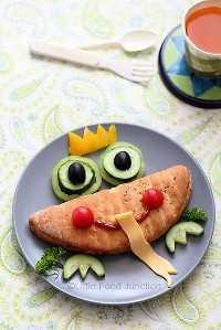 Mais de 50 almoços artísticos para crianças - Frog Prince