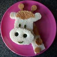 Mais de 50 almoços para crianças Food Art - Giraffe Sandwich Food Art