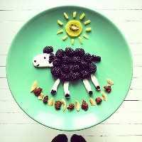 Mais de 50 almoços para crianças: Blackberry Sheep