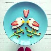 50+ almoços artísticos para crianças - Lovebirds