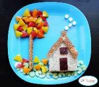 Mais de 50 almoços para crianças: Casinha na chapa